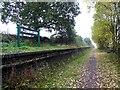 SK7971 : The former station platform at Fledborough by Steve  Fareham