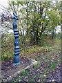 SK8971 : NCN marker on the Notts / Lincs border by Steve  Fareham