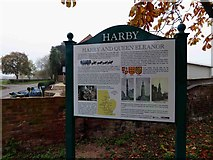 SK8770 : Harby and Queen Eleanor information board by Steve  Fareham