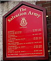 SO2801 : Salvation Army daily activities information board, Pontypool by Jaggery