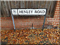 TM1645 : Henley Road sign by Adrian Cable