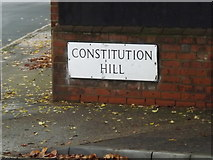 TM1645 : Constitution Hill sign by Adrian Cable