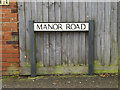 TM1645 : Manor Road sign by Adrian Cable