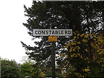 TM1645 : Constable Road sign by Adrian Cable