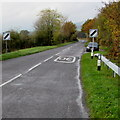 SO0291 : End of the 30 zone at the western edge of Caersws by Jaggery