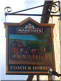 NZ0516 : Sign for the Coach & Horses, Barnard Castle by JThomas