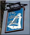 NZ0416 : Sign for the Blue Bell, Barnard Castle by JThomas