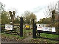 SJ7260 : Notices at fishing pools opposite Watch Lane Flash by Jonathan Hutchins