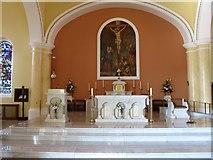 J3652 : The Sanctuary at St Patrick's Catholic Church, Ballynahinch by Eric Jones