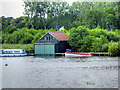 TG3117 : Boathouse on Wroxham Broad by David Dixon