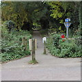 SO8402 : Cycleway and footpath from Woodchester towards Nailsworth by Jaggery