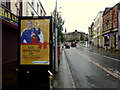 """H4572 : """"All wrapped up"""" advertising board, Omagh by Kenneth  Allen"""