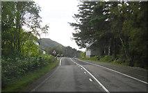 NM7682 : A830 passing through Lochailort by Peter Bond