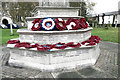 SP9211 : Remembrance Day Wreaths on the Tring War Memorial by Chris Reynolds