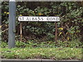 TL1312 : St.Albans Road sign by Adrian Cable