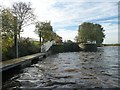 SE5325 : Lock landing below Beal Lock, on the River Aire by Christine Johnstone