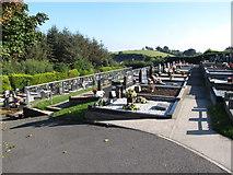 J3652 : The cemetery at St Patrick's Catholic Church, Ballynahinch by Eric Jones