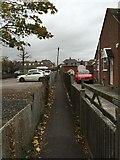 ST3049 : Burnham-on-Sea: public footpath off Love Lane by Jonathan Hutchins