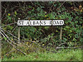 TL1311 : St Albans Road sign by Adrian Cable
