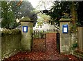 SP5318 : The gate to St Mary's Church by Steve Daniels