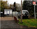 SJ6910 : Information boards and name sign,  Oakengates railway station, Telford by Jaggery