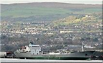 "J3778 : The ""Cementos Cantabrico"" departing Belfast (November 2015) by Albert Bridge"