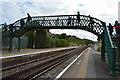 TQ3408 : Footbridge, Falmer Station by N Chadwick