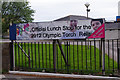 SD4762 : Olympic Torch banner, Our Lady's Catholic College by Ian Taylor
