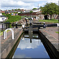 SO8071 : Lock No 2 and Stourport Lower Basin, Worcestershire by Roger  Kidd