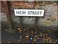TM0533 : High Street sign by Adrian Cable