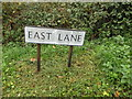 TM0532 : East Lane sign by Adrian Cable