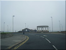 NZ3766 : A183 Sea Road and bandstand by Colin Pyle
