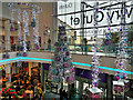 SJ8097 : Christmas Decorations, Lowry Outlet Mall by David Dixon
