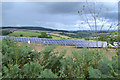 SX9177 : Solar Farm on the southeast side of Colley Lane Cross, looking north-northeast by Robin Stott