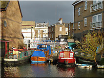 TQ2482 : Small dock, Grand Union Canal, Paddington Branch by Robin Webster
