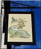 SJ4913 : Dolphin Inn name sign, Shrewsbury by Jaggery