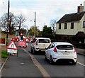 SJ7507 : Queueing traffic on Aston Road, Shifnal by Jaggery