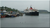 NM8529 : MV Isle Of Mull at Oban Ferry Terminal by Peter Bond