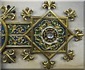ST5071 : Metalwork decoration of memorial cross, Tyntesfield chapel by David Hawgood