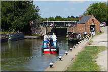 SP7548 : Narrowboats along the Grand Union Canal by Mat Fascione