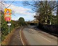 SJ7508 : School ahead - reduce speed now, Shifnal by Jaggery