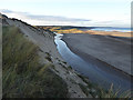 NZ4936 : Crimdon Beck and Hart Warren Dunes by Oliver Dixon