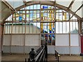 NZ3472 : Stained glass (west), Monkseaton Metro Station by Andrew Curtis