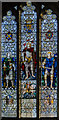 SK7472 : Stained glass window, St John the Baptist church, East Markham by Julian P Guffogg