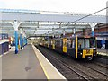 NZ3571 : Train at Whitley Bay Metro Station by Andrew Curtis