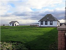NZ3671 : Former Coastguard buildings at Brown's Point by Andrew Curtis