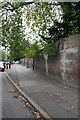 TQ1780 : Brick wall on south side of Mattock Lane by Roger Templeman