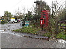 TM1678 : Telephone Box & Horseshoes Postbox by Adrian Cable