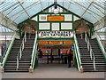NZ3669 : Footbridge, Tynemouth Metro Station by Andrew Curtis