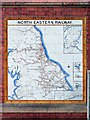 NZ3669 : Tile map of North Eastern Railway, Tynemouth Metro Station by Andrew Curtis